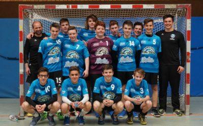 Männliche B-Jugend mit erfolgreicher Qualifikation und Kräftemessen gegen Leutershausen und Kronau-Östringen