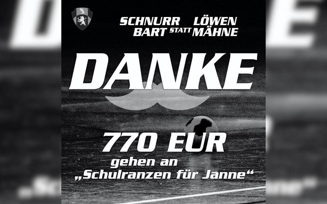 """770 Euro für """"Schulranzen für Janne"""""""